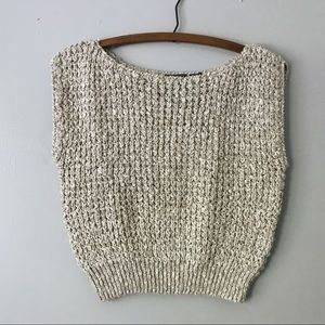 Vintage Tan Sleeveless Knit Top - M